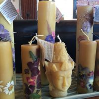 Beeswax Candles With Flowers