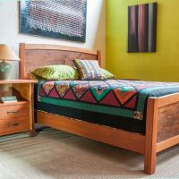 Mindo Bed Cherry Figured Claro Walnut