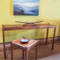 Moat Walnut Console Table Maple Top