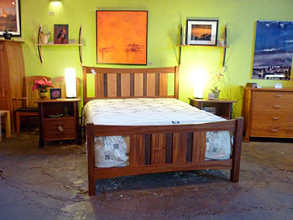 Custom Queen Bed Frame - panoramic