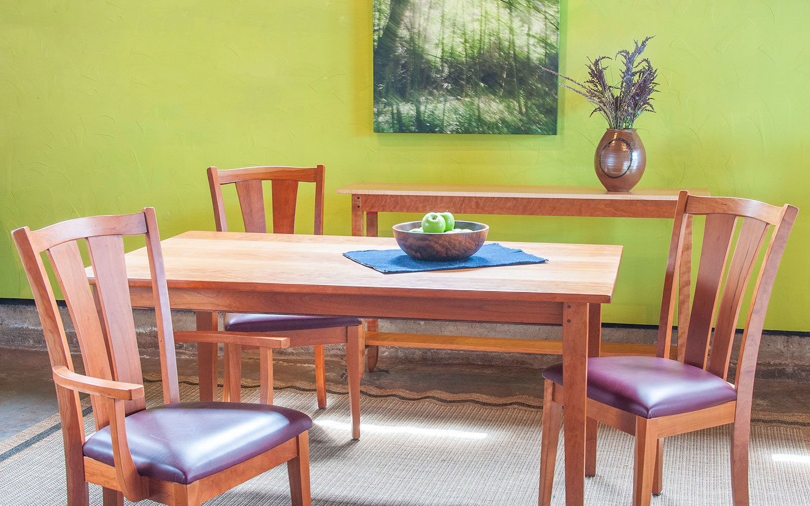 Cherry Farm Table Chairs
