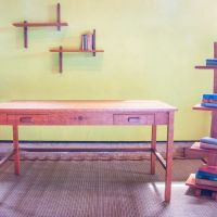 Bubinga Desk And Bookcase