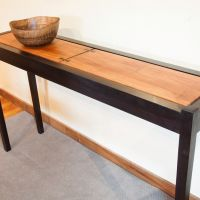 Moat Sycamore Dyed Walnut Console Table