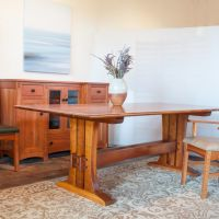 Trestle Table In Cherry